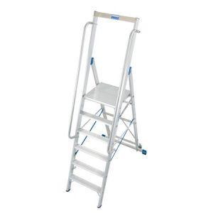 Stabilo Stufen-Stehleiter mit großer Standplattform