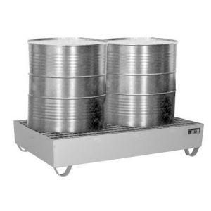 Edelstahl-Auffangwanne-Typ-VAW-2-Gitterrost-Fässer