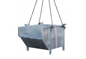 Baustoff-Behälter Typ BBM verzinkt