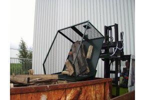 Gitterbehälter Typ GU-G 1000 lackiert in RAL7005