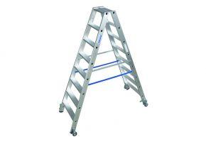 Stabilo Stufen-Doppelleiter fahrbar